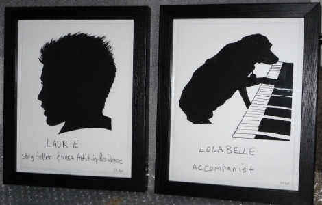 picture of Laurie and picture of Lola at the piano